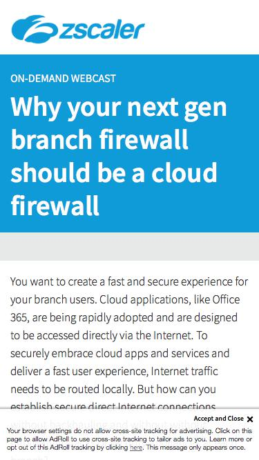 Why your next gen branch firewall should be a cloud firewall   Zscaler