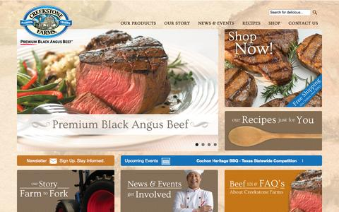 Screenshot of Home Page creekstonefarms.com - Creekstone Farms-Creekstone Farms - captured Sept. 19, 2014