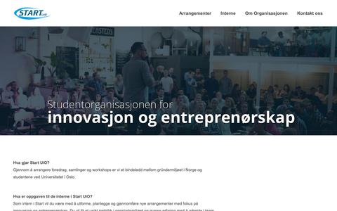 Screenshot of Home Page startuio.no - Start UiO | Studentorganisasjonen for innovasjon og entreprenørskap - captured Nov. 7, 2018