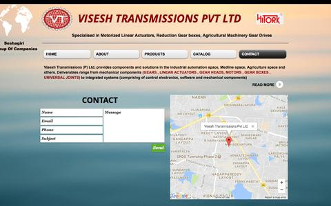 Screenshot of Contact Page viseshtransmissions.com - viseshtransmissions | CONTACT - captured Oct. 28, 2017