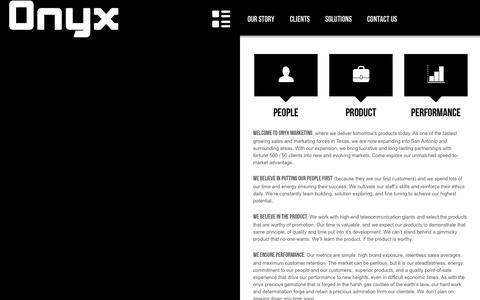 Screenshot of Home Page onyxmarketinginc.com - Onyx Marketing Inc. - captured Oct. 1, 2014