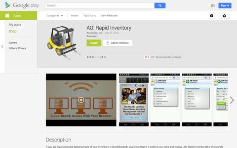 Screenshot of Android App Page google.com - AO: Rapid Inventory - Android Apps on Google Play - captured Oct. 22, 2014