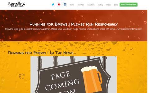 Screenshot of Press Page runningforbrews.com - Press | Running for Brews 5k | Social Beer Run Club - captured Feb. 15, 2016