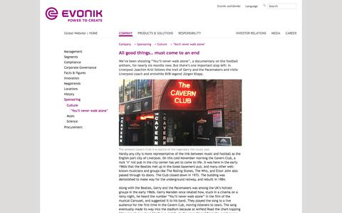 Dreh in Liverpool - Filmprojekt EvonikYNWA - Evonik Industries - Specialty Chemicals