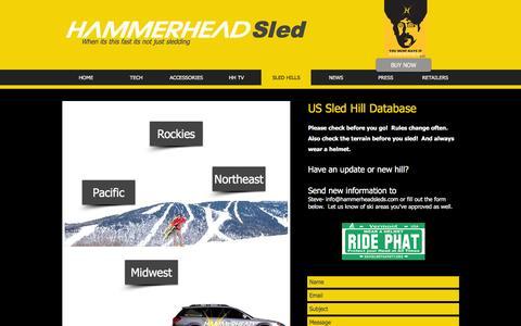 Screenshot of Signup Page hammerheadsleds.com - Hammerhead Sleds | SLED HILLS - captured Nov. 11, 2016