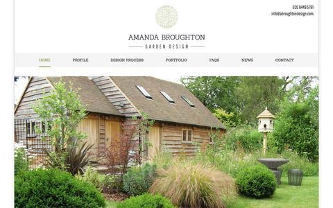 Screenshot of Home Page abroughtondesign.com - Garden Designs Hertfordshire, Garden Design in and around North London - captured Feb. 5, 2016