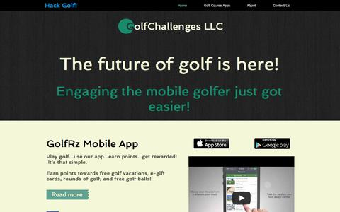 Screenshot of Home Page golfrz.com - Golf Challenges - captured Sept. 30, 2014