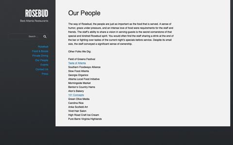 Screenshot of Team Page rosebudatlanta.com - Our People • ROSEBUD - captured Oct. 20, 2018