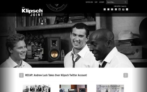Screenshot of Blog klipsch.com - The Klipsch Joint - - captured Sept. 19, 2014