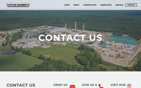 Screenshot of Contact Page appmach.com - Contact - Applied Machinery - captured Oct. 4, 2018