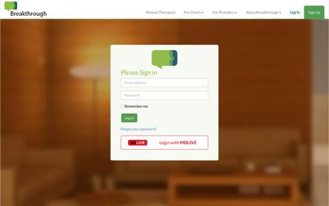 Screenshot of Login Page breakthrough.com - Sign in | Breakthrough - captured Feb. 8, 2016
