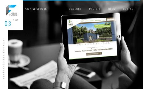 Screenshot of Home Page agence-future.com - Agence de communication prod vidéo et agence web annecy - captured Oct. 2, 2018