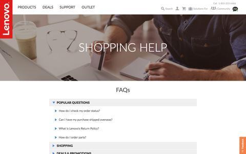 Shopping Help | Lenovo US
