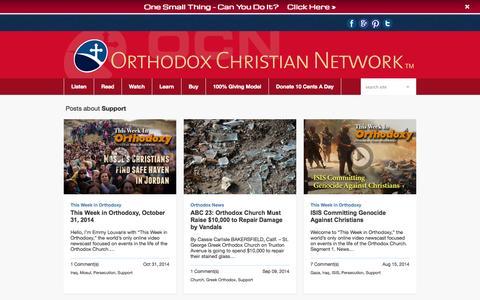 Screenshot of Support Page myocn.net - support - Orthodox Christian Network - captured Nov. 3, 2014