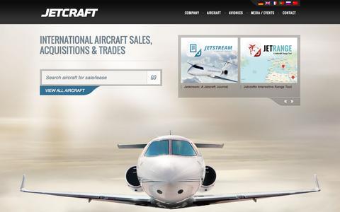 Screenshot of Home Page jetcraft.com - Private Jet Sales | Aircraft Broker | Jetcraft - captured Sept. 19, 2014