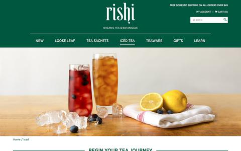 Buy Certified Organic Iced Tea | Rishi Tea