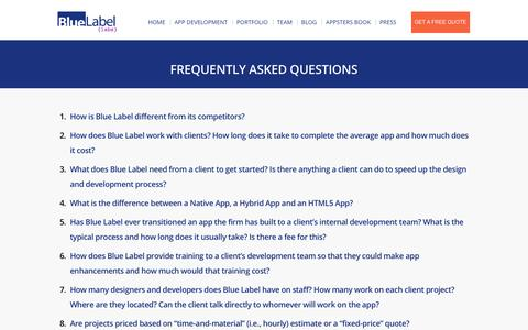Mobile App Builder FAQ's | Blue Label Labs