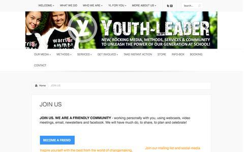 Screenshot of Signup Page youth-leader.org - JOIN US | Youth-LeadeR - captured Nov. 2, 2014