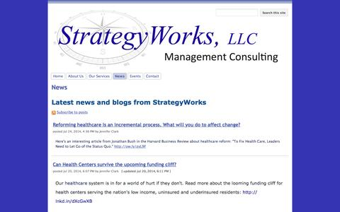 Screenshot of Press Page google.com - News - StrategyWorks, LLC - captured Dec. 16, 2016