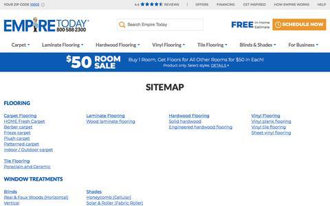 Screenshot of Site Map Page empiretoday.com - Empire Site Map | Empire Today - captured Aug. 14, 2019