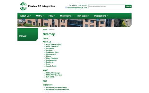 Screenshot of Site Map Page plextekrfi.com - Sitemap - captured Oct. 3, 2014