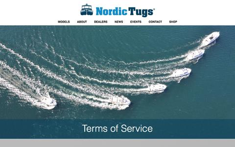 Screenshot of Terms Page nordictugs.com - Terms of Service - Nordic Tugs - captured Feb. 22, 2016