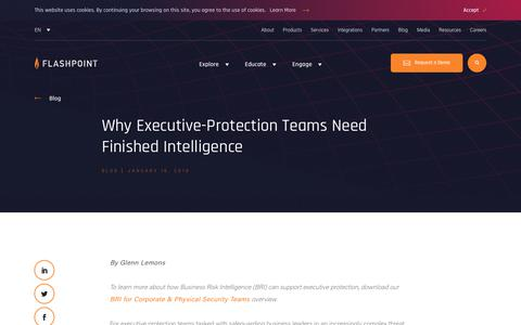 Screenshot of Team Page flashpoint-intel.com - Flashpoint - Why Executive-Protection Teams Need Finished Intelligence - captured Nov. 12, 2019