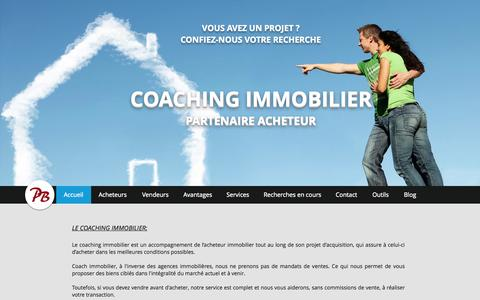 Screenshot of Home Page immobilier-coach.com - coach immobilier Suisse - captured Oct. 1, 2014