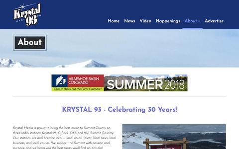 Screenshot of About Page krystal93.com - Krystal 93 :: About - captured Sept. 20, 2018