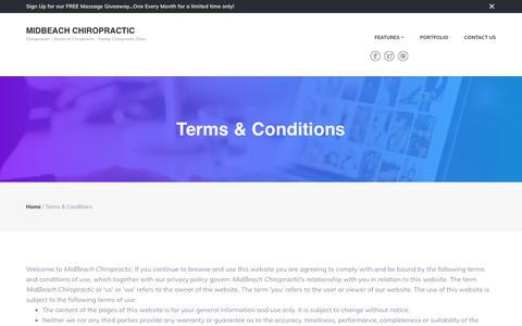 Screenshot of Terms Page midbeachchiropractic.com - Terms & Conditions – MidBeach Chiropractic - captured Oct. 18, 2017