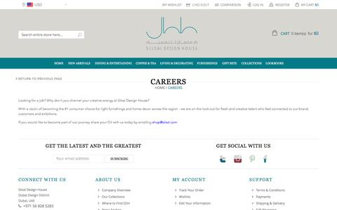 Screenshot of Jobs Page silsal.com - Careers - captured Feb. 4, 2016