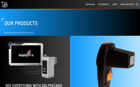 Screenshot of Products Page dolphitech.com - Our Products - Dolphitech - captured Nov. 6, 2018