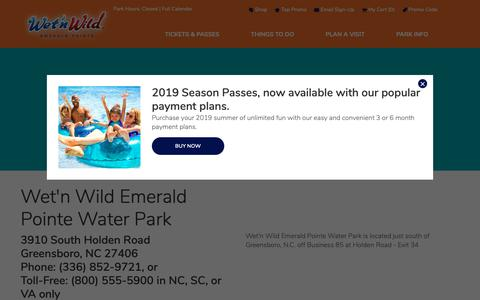 Screenshot of Maps & Directions Page emeraldpointe.com - Directions   Wet'n Wild - captured Oct. 18, 2018