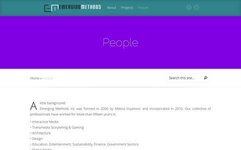 Screenshot of Team Page emergingmethods.com - People | Emerging Methods Inc - captured Oct. 2, 2014