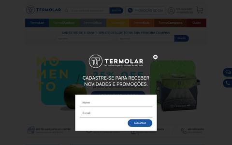 Screenshot of Home Page termolar.com.br - Garrafas Térmicas Termolar - captured Nov. 18, 2018