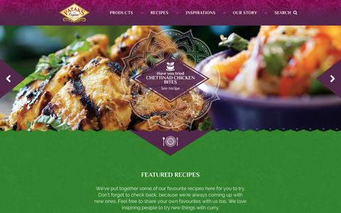 Screenshot of Home Page pataks.co.uk - Patak's Indian curry products and recipes - captured Oct. 26, 2016