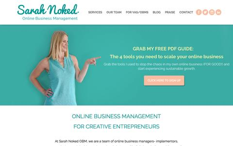 Screenshot of Home Page sarahnoked.com - Let's Get Growing! - Sarah Noked | Online Business Manager | Online Business Management - captured May 27, 2017