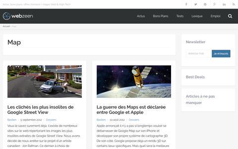 Screenshot of Maps & Directions Page webzeen.fr - map Archives - WebZeen - captured June 28, 2017