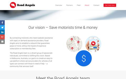 Screenshot of About Page roadangels.com.au - Meet the Road Angels Team | Road Angels - captured Aug. 14, 2016