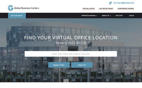 Screenshot of Locations Page gbcone.com - Virtual Office Locations | Meeting Rooms for Rent | Global Business Centers - captured Aug. 6, 2017