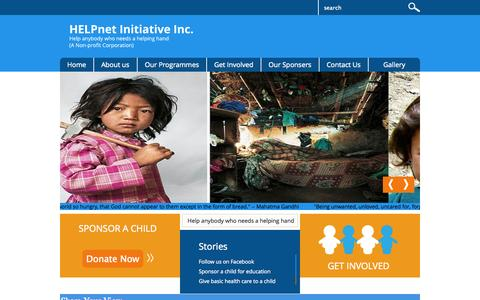 Screenshot of Testimonials Page helpnetinitiative.org - HELPnet Initiative Inc. - captured Oct. 2, 2014