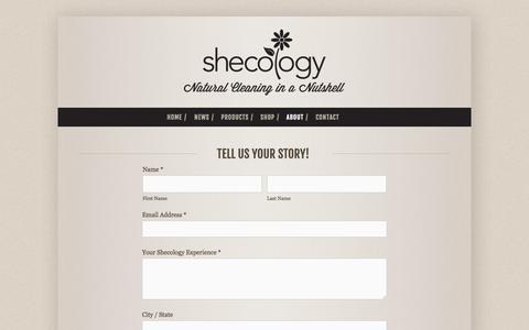 Screenshot of Testimonials Page shecology.com - Testimonials — shecology - captured Oct. 7, 2014