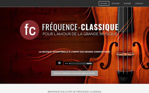 Screenshot of Home Page frequence-classique.com - ACCUEIL - captured Jan. 19, 2018