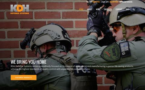 Screenshot of Home Page kdhdefensesystems.com - KDH Defense | We Bring You Home - captured Feb. 12, 2016