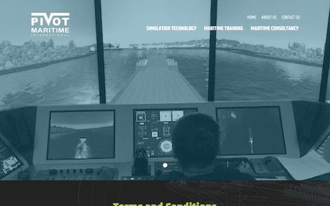 Screenshot of Terms Page pivotmaritime.com - Terms and Conditions   - Pivot Maritime - captured Nov. 7, 2016