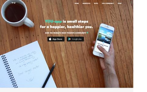 Screenshot of Home Page you-app.com - YOU-app - Small steps to happier, healthier you - captured Dec. 18, 2015