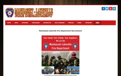 Screenshot of Signup Page mlfd.com - Manhasset-Lakeville Fire Department - Join! - captured Dec. 17, 2018