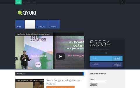 Screenshot of Blog qyuki.com - Q blog   Latest dope on all things Qyuki … - captured Sept. 17, 2014