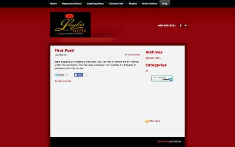 Screenshot of Blog laylasbistro.com - Layla's Bistro - Blog - captured Sept. 29, 2014
