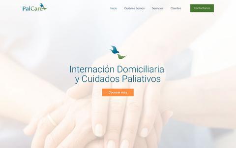 Screenshot of Home Page palcare.com.ar - PalCare – Cuidados Paliativos e Internación Domiciliaria - captured July 15, 2018